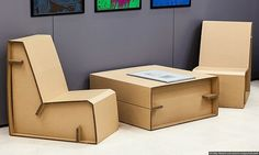 A4A Design unveils sustainable cardboard furniture for green homes and public spaces | Eco Chunk