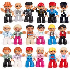 1pcs Big Size Building Blocks Compatible With duploe Family Worker Police Figure Toys For Kids Christmas Gift  Price: 0.92 USD
