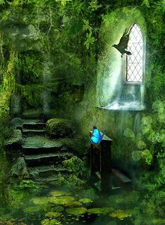 "From Blue Pueblo: ""Chapel Ruins, Cornwall, England"" Eerie, but beautiful. Check out this site for ""beautiful and unique photos from around the world."" Phillips family came from Cornwall, England to Maryland in Fantasy World, Fantasy Art, Chapel In The Woods, The Secret Garden, Abandoned Places, Belle Photo, Faeries, Land Scape, Mystic"