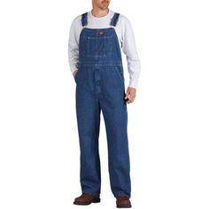 Dickies Big Men's Stonewashed Bib Overalls, Size: 48 x 30, Blue