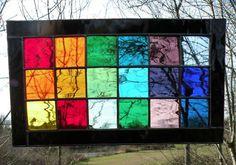 Stained Glass Rainbow window panel rectangle by ravenglassgirl, $75.00