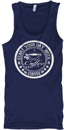 Limited Edition   Coffee T Shirt Navy T-Shirt Front