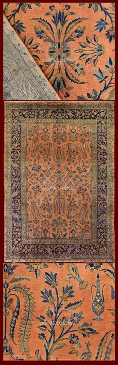 MANCHESTER KASHAN CARPET IRAN - 335 X 235 CM - 10.99 X 7.71 FT - COD. 140000000762   manchester kashan rugs and carpets are given such name in attribution to Manchester London, where the wool used in production was imported from Australia refined, then later exported to Kashan for weaving.  This is a very special grade of wool from the Merino sheep, which was quite costly to acquire and only reserved for very fine weavings.