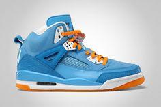 Air Jordan Spizike in University Blue/White.