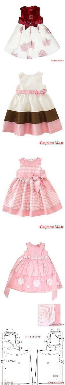 Шитье Little Dresses, Little Girl Dresses, Pretty Dresses, Girls Dresses, Little Girl Fashion, Kids Fashion, Girl Dress Patterns, Dress Tutorials, Cute Outfits For Kids