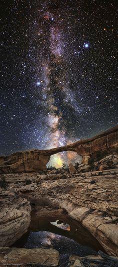 """Ascension""  #Dolica #LeeFilters #Nikon #D800 #Nikkor #24mm #BodhiSmith #Utah #NaturalBridges #Stars #MilkyWay"