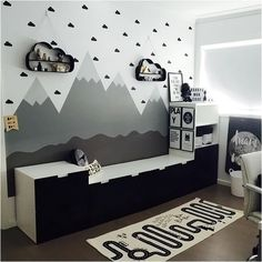 a very cool boy's room. OYOY Adventure rug available online | Image: @missamydc19