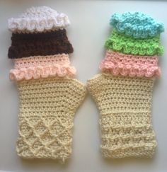Three Scoops Crochet Mittens