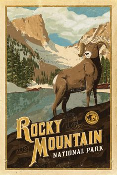 Rocky Mountain National Park Poster American Wild West