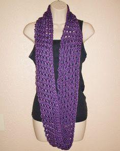 Gypsy Cat Crafts tunisian crochet free pattern infinity scarf