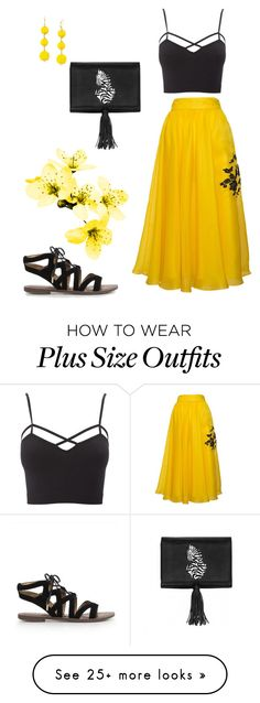 """""""plus size fiona"""" by aleger-1 on Polyvore featuring Nach Bijoux, Parlor, Charlotte Russe, Sam Edelman, INC International Concepts and plus size clothing"""
