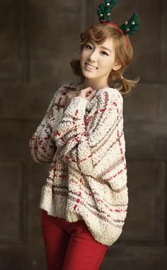"Taeyeon from Girls' Generation. ""The Warmest Gift"" SMTown Christmas Album"