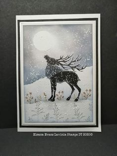 Lavinia Stamps Cards, Resin Uses, Animal Cards, Winter Cards, Christmas Art, White Christmas, Paper Cards, Cool Cards, Xmas Cards