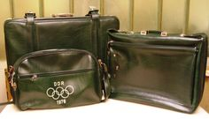 Vintage Kofferset - Olympiade Montreal - DDR, 1976 von Zeitzone-DDR auf DaWanda.com