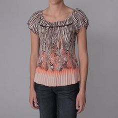 Piano Junior's Embellished Collar Crinkle Blouse