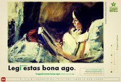 MIGO: Legi estas bona ago. #reading #good #activity #legi #estas #bona #ago #migoi #esperanto #bildokarto
