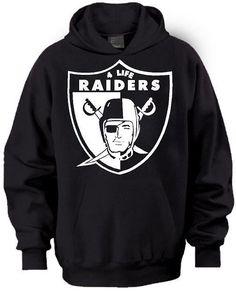 New School Old School Raiders 4 Life Pullover Hoodie