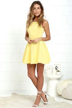 Wanderlust Yellow Skater Dress at Lulus.com!