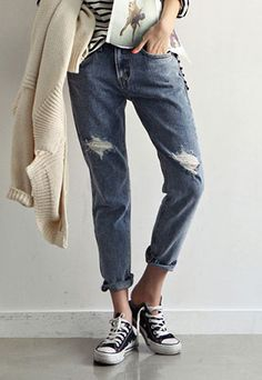 a78208a37636 Price  29.99 Color  As Picture Material  Denim Oversize street-chic cuffed  frayed