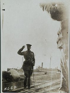 'With the camera at Anzac' – Lord Kitchener's farewell salute at Anzac, 14.11.15. This photograph is from an album of Anzac Cove and surrounding areas, taken in 1915 by three young Australian soldiers. NAA: A1861, 4210. See more images from the album on Flickr:  http://www.flickr.com/photos/national-archives-of-australia/sets/72157604263041528/