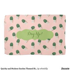 Quirky and Modern Garden Themed Kitchen Towel