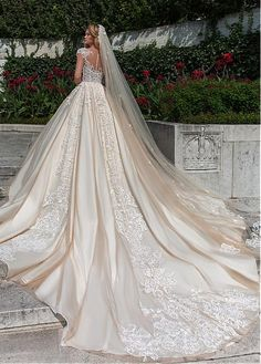 MagBridal Bridal Dresses Online,Wedding Dresses Ball Gown, gorgeous tulle scooneckline ball gown wedding dress with beaded lace appliques Cathedral Wedding Dress, V Neck Wedding Dress, Luxury Wedding Dress, Princess Wedding Dresses, Dream Wedding Dresses, Bridal Dresses, Wedding Gowns, Lace Wedding, Cathedral Train