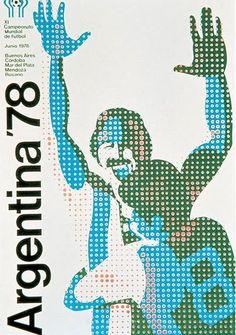 Cartel oficial del campeonato mundial de futbol de Argentina 1978 - Official poster of the football World Championship Argentina 1978 Soccer Art, Soccer Poster, Football Design, Football Art, Football Images, Retro Football, Vintage Football, World Cup 2014, Fifa World Cup