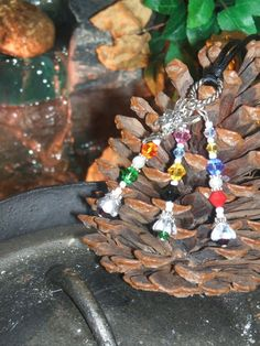 Fairies Swarovski Necklace - Physical Sensitivity-Meditation-Dreams-Vision Quests-Wishes-Healing-Earth Magick-Protection-Prosperity-Luck By MaidenMotherCrone.etsy.com