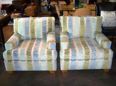 Pair of Century lounge chairs.