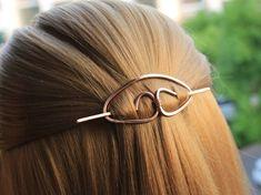 Copper Hair Clip Hair Stick Metal Hair Slide Hair Barrette Minimalist Hair Pin Hammered Hair Jewelry