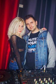 Female DJ Mirjami with DJ Arass in Insomnia Club Zabrze :)