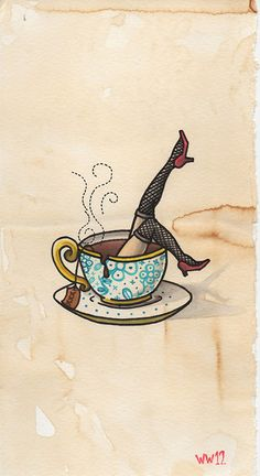 Coffee Tattoo Flash | KYSA #ink #design #tattoo