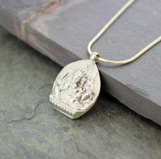 Sterling Silver Ganesh Pendant - Dharmashop.com