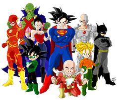 Crossover Dragon Ball Z - Justice League by DrMax82.deviantart.com on @DeviantArt