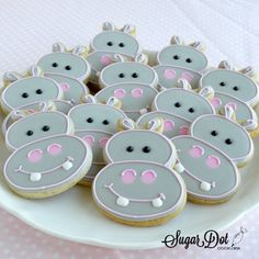 Sugar Dot Cookies: Hippo Sugar Cookies
