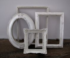 Open Picture Frame Set Of 4 Shabby Chic White Wall Decor 8x10 5x7