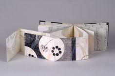 "Collected Legacy by Nicole Hand. French binding with etching, relief, lithography. 5""x3 5/8""x3/4"""