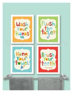 Kids Bathroom Decor- Kids bathroom art