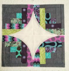 """New fabric for some fun """"Curve it Up"""" blocks!"""