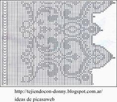 CROCHET - GANCHILLO - PATRONES - GRAFICOS: CORTINA TEJIDA A GANCHILLO