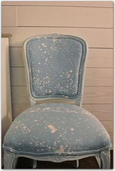 diy chair update with bleach in a spray bottle - inspiration