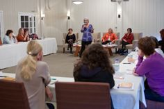 Janet Neal in the Take Action Workshop at Women At Woodstock East 2013. (with Ivy Menchel, Eileen Williams & Ivy Slater)