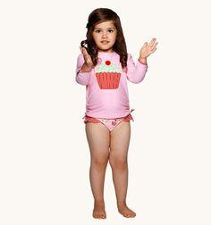 Girls Cupcake Rash Vest