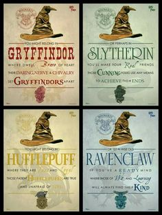 Harry-Potter-Haus Hufflepuff, Gryffindor, Ravenclaw, Slytherin - Source by haaarbigram Ideas party Baby Harry Potter, Chapeau Harry Potter, Harry Potter Motto Party, Harry Potter Fiesta, Harry Potter Thema, Classe Harry Potter, Harry Potter Classroom, Theme Harry Potter, Harry Potter Bedroom