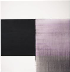 EXPOSED PAINTING INTENSE BLACK COBALT VIOLET by Callum Innes on artnet