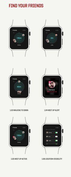 Apple Watch App - Find your Friends #app #watch #tech #design #ux #ui