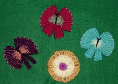 Butterflies made on the Hana-Ami Loom