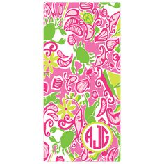Designs by Dee's Hands - Lilly Pulitzer Maryland Print Bath Beach Towel w/Monogram, $42.95 (http://www.designsbydeeshands.com/lilly-pulitzer-maryland-print-bath-beach-towel-w-monogram/)