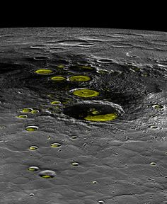 Get a Change of View of Mercury's North Pole by JASON MAJOR 1/5/15 Perspective view of Mercury's north pole made from MESSENGER MDIS data.