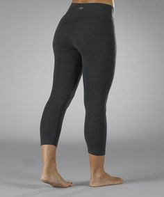 Take a look at the Heather Charcoal Tummy Control Capri Leggings on #zulily today!